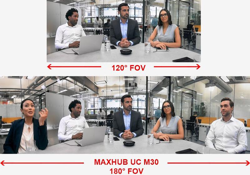 Camera USB hội nghị maxhub UC M30 nét 4K 2 mic 4m (2)