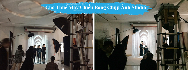 Thue May Chieu Bong chup anh trong Studio tphcm
