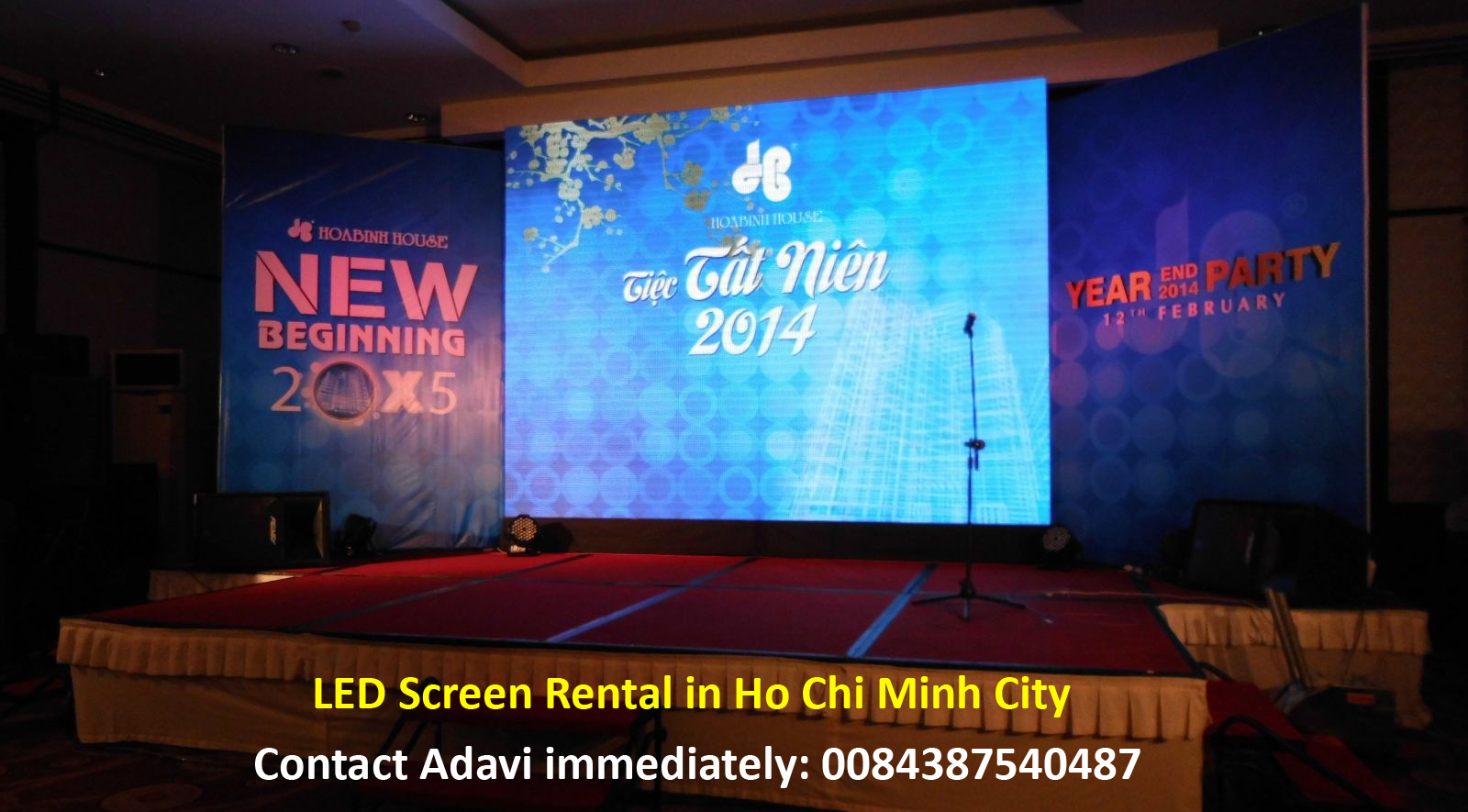 LED Screen Rental in Ho Chi Minh City - 0084387540487