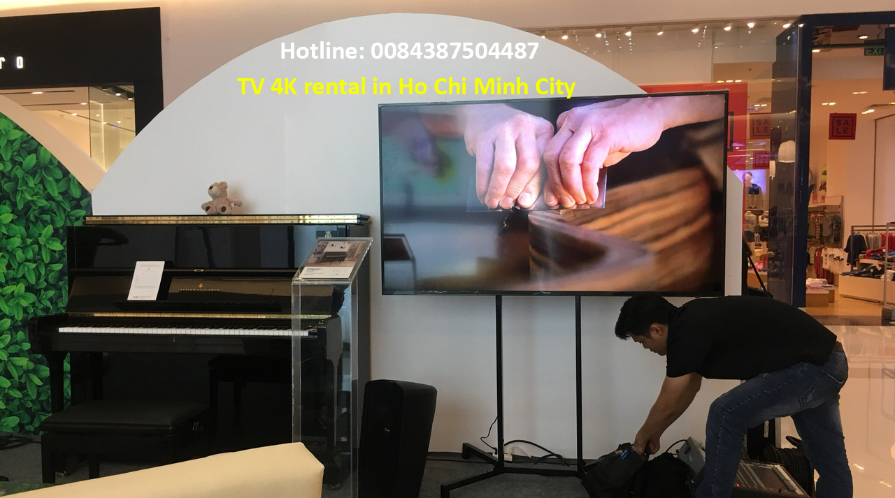 TV 4K rental in ho chi minh city