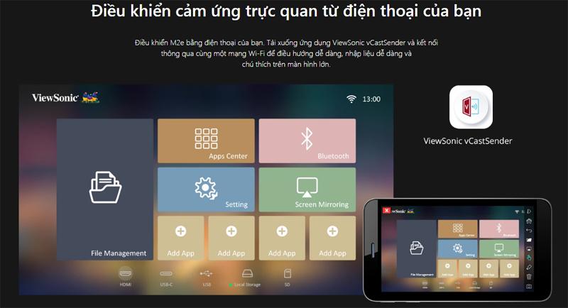 may-chieu-thong-minh-Viewsonic mini M2e full hd 1080p android (3)